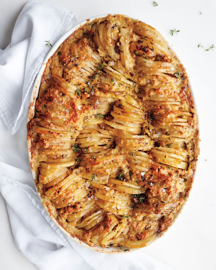 In this potato kugel gratin, matzo meal is the key to a golden-brown crust.