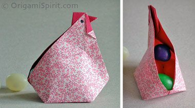 Video on How to Fold an Origami Abundance Hen