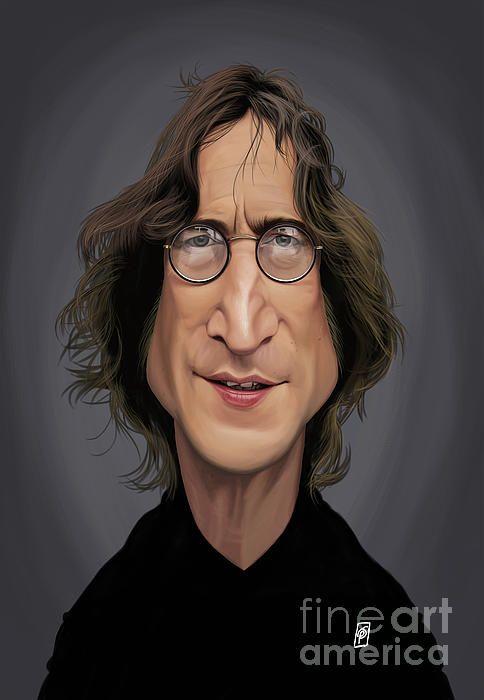 John Lennon art   decor   wall art   inspiration   caricature   home decor   idea   humor   gifts
