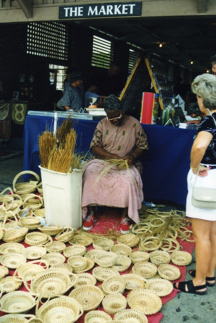 Sweet Grass Baskets At The Market, Downtown Charleston