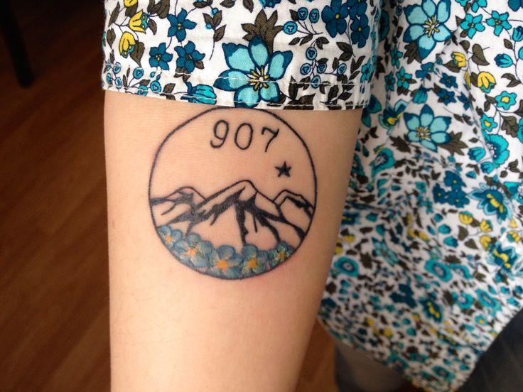 My Alaska tattoo.                                                                                                                                                      More