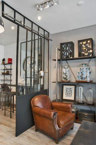 Verrière coulissante + association style avec club cuir : Pour agrandir notre salon/cuisine ?
