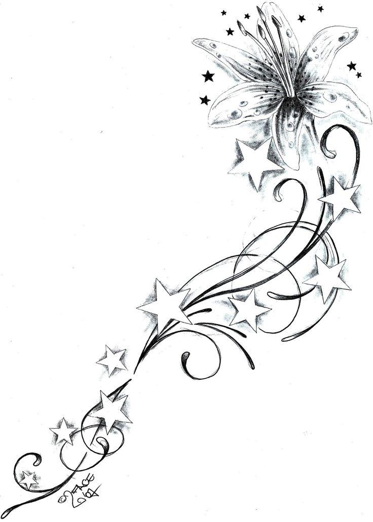 abstract star tattoos for women | star tattoo design
