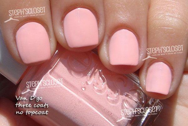 neon pastel peach Essie Van D