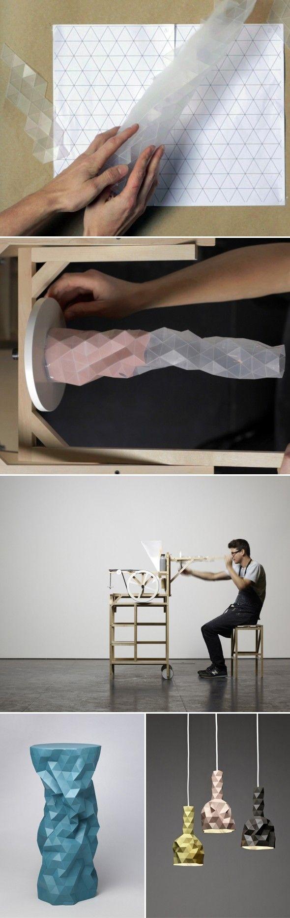 Faceture - Phil Cuttance. Le moule en plastique permet de générer plusieurs formes différentes.