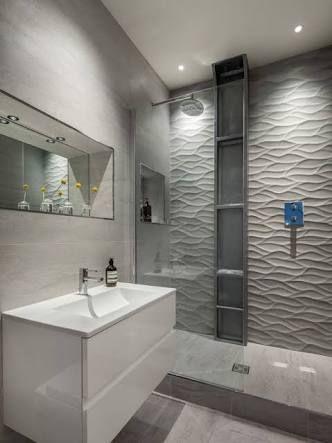 Resultado de imagen para baños con azulejos rectificados