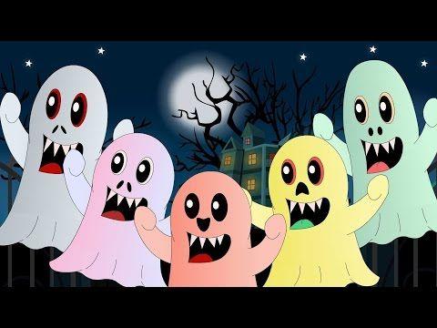 cinco pequeños monstruos   canciones infantiles - YouTube