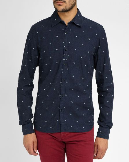 Blaues Hemd Handmuster SCOTCH AND SODA