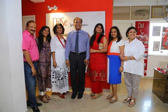 The team with Dr Pronab Dasgupta at the Dil Se Store