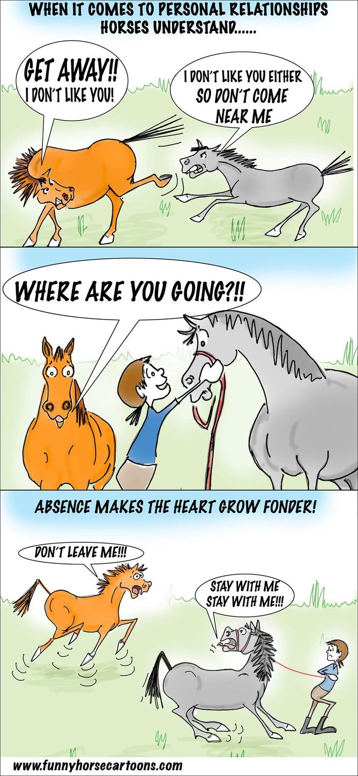 This is so like my two mares