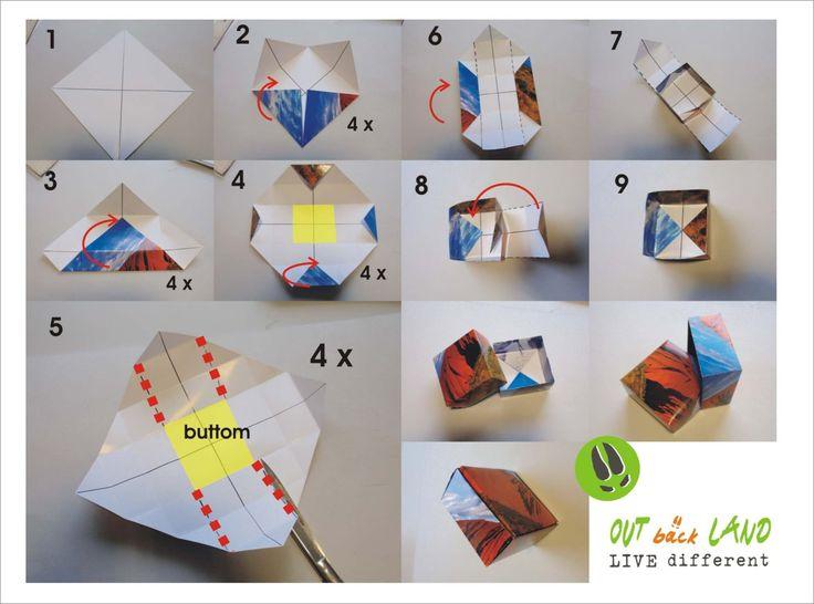 Ayers Rock Box  paper fold box