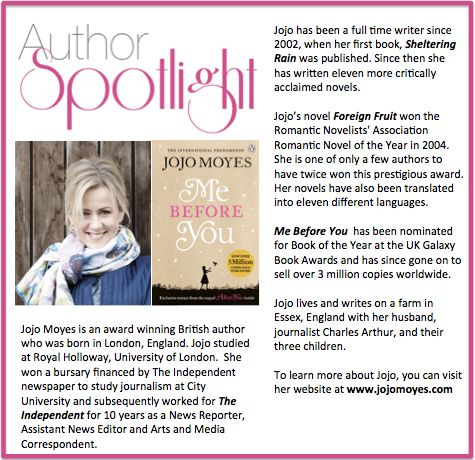 Check out this week's #AuthorSpotlight: #JojoMoyes #awardwinning #british #romantic #novelist