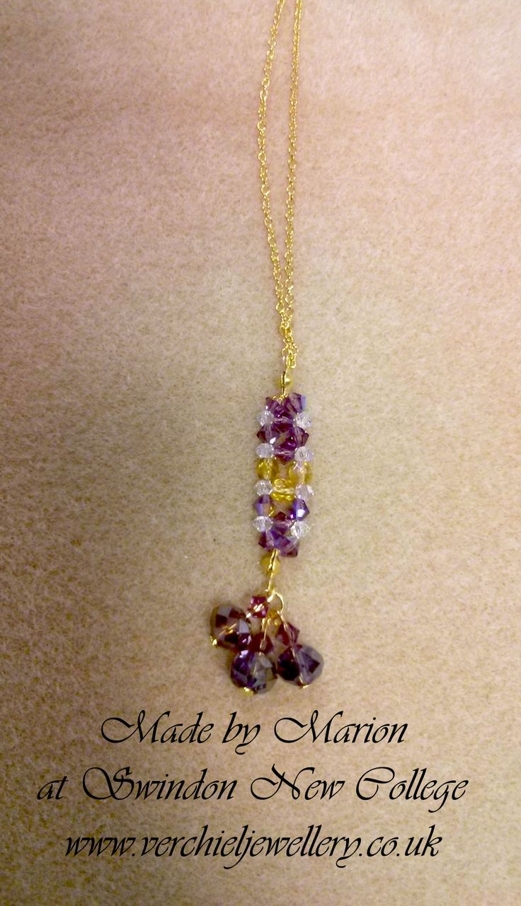 Right angle weave pendant made by Marion at Swindon New College. www.verchieljewellery.co.uk