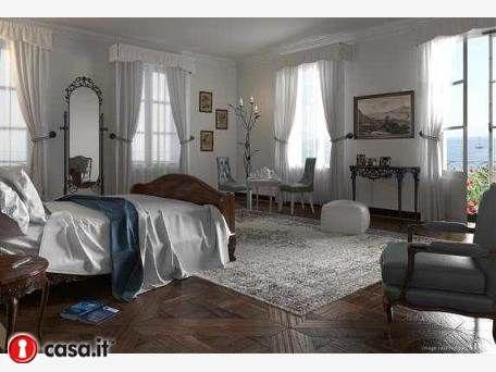 Classical interior in classical mansion. Imperia, Italy