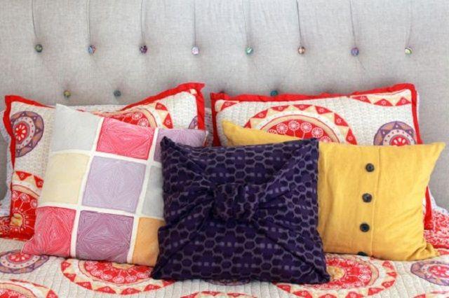 6 modi per realizzare cuscini fai da te con vecchi indumenti - Donnaclick