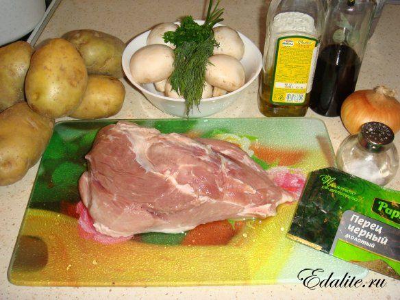 Тушеная свинина с картошкой рецепт