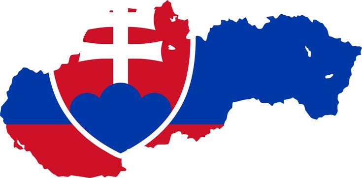 Slovakia Flag Map