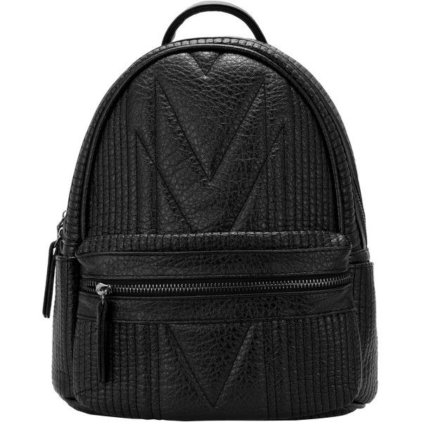 Black Classic Zipper PU Backpack ($20) ❤ liked on Polyvore featuring bags, backpacks, handbags, sac, black, zip bags, vintage bag, handbags shoulder bags, zipper backpack and vintage rucksack