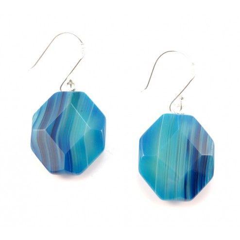 Lola Rose Corrine Blue Persian Agate Sterling Silver Earrings