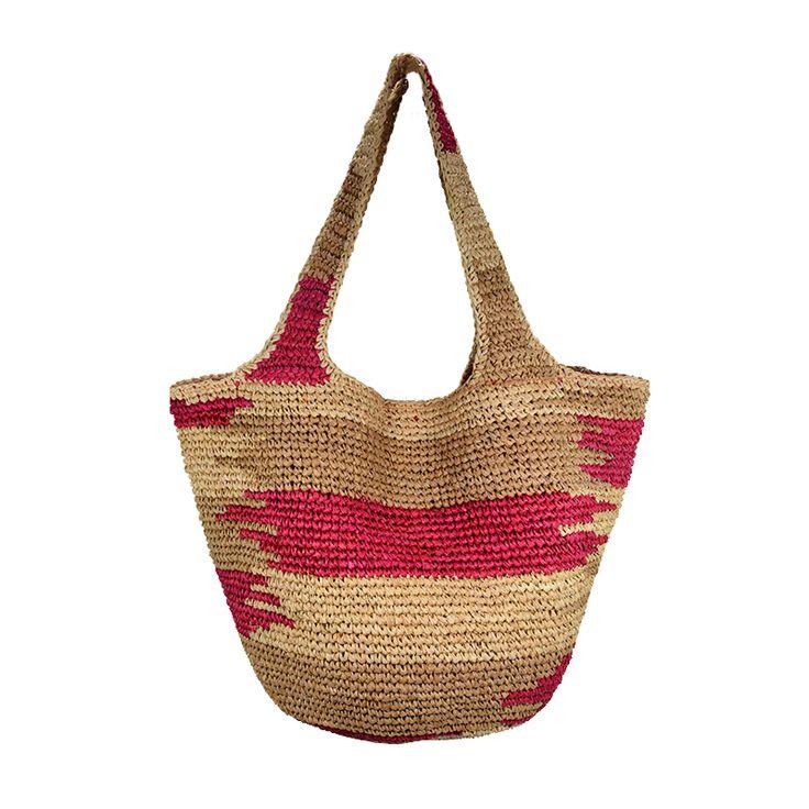 x large woven raffia tote basket bag