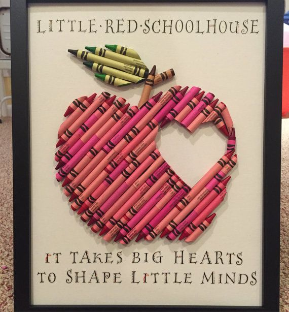 Crayon Apple Teacher Gift by MashaDashaDesigns on Etsy