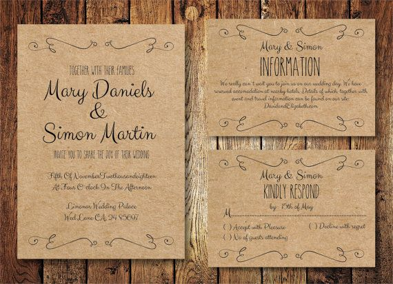 18 Simple + Inexpensive Wedding Invitations — The Overwhelmed Bride // Bridal Blog + Southern California Wedding Planner