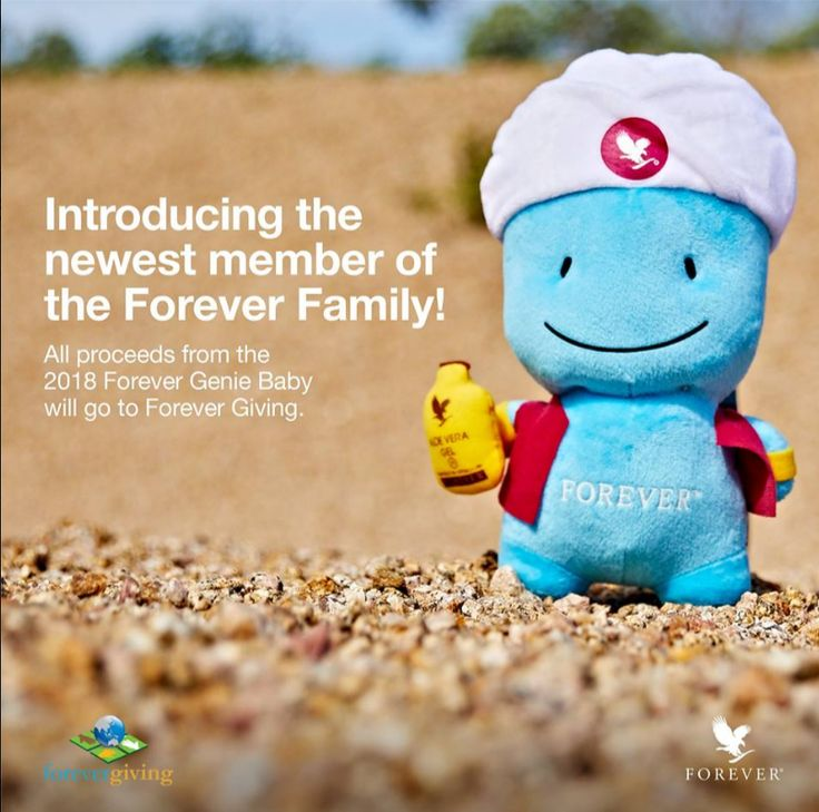 Introducing Forever's newest family member - Forever Genie Baby! Get him at the Global Rally and coming soon to online stores.
