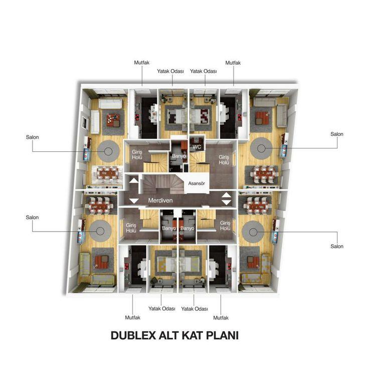SeraPark 34  Dublex Alt Kat Planı