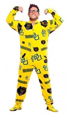 #Baylor footie pajamas! For sleeping? For chilly game days? For every day? #nomichaelyoucannothavethese