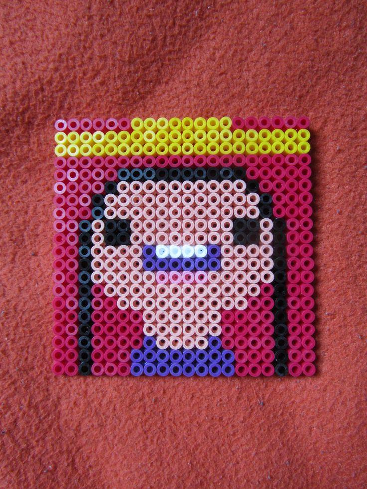 Adventure Time Princess Prinzessin Bubblegum Finn and Jake Untersetzer perler beads bügelperlen bügel perlen