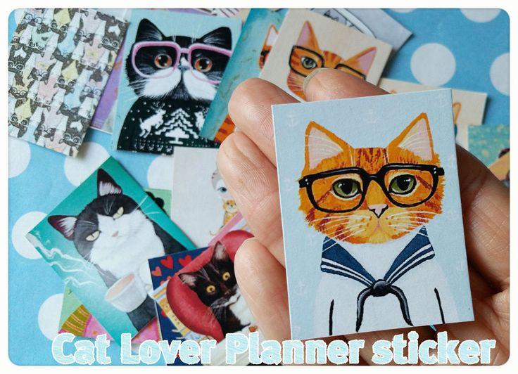 24 Cat sticker planner,Kawaii sticker,Matte Sticker,Cute Matte Scrapbook sticker