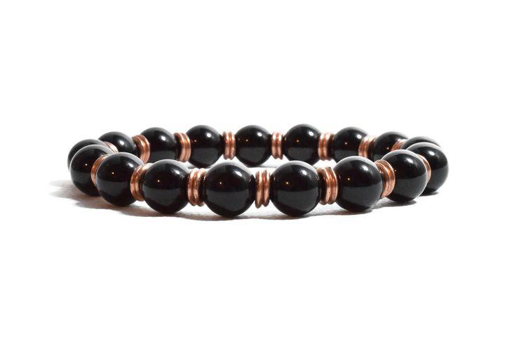 Black Onyx Bracelet, Womens Bracelet, Beaded Bracelet, Black Bracelet, Bracelet for Women, Women's Jewelry, Bohemian Bracelet, Boho Style,