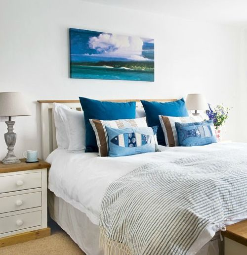 Charming Coastal Country Bedrooms: http://www.completely-coastal.com/2016/03/coastal-country-bedrooms.html Simple and comfy bedrooms.