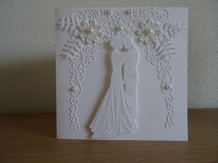 Huwelijk, malMarianne design Cr.3893 en Tattered lace