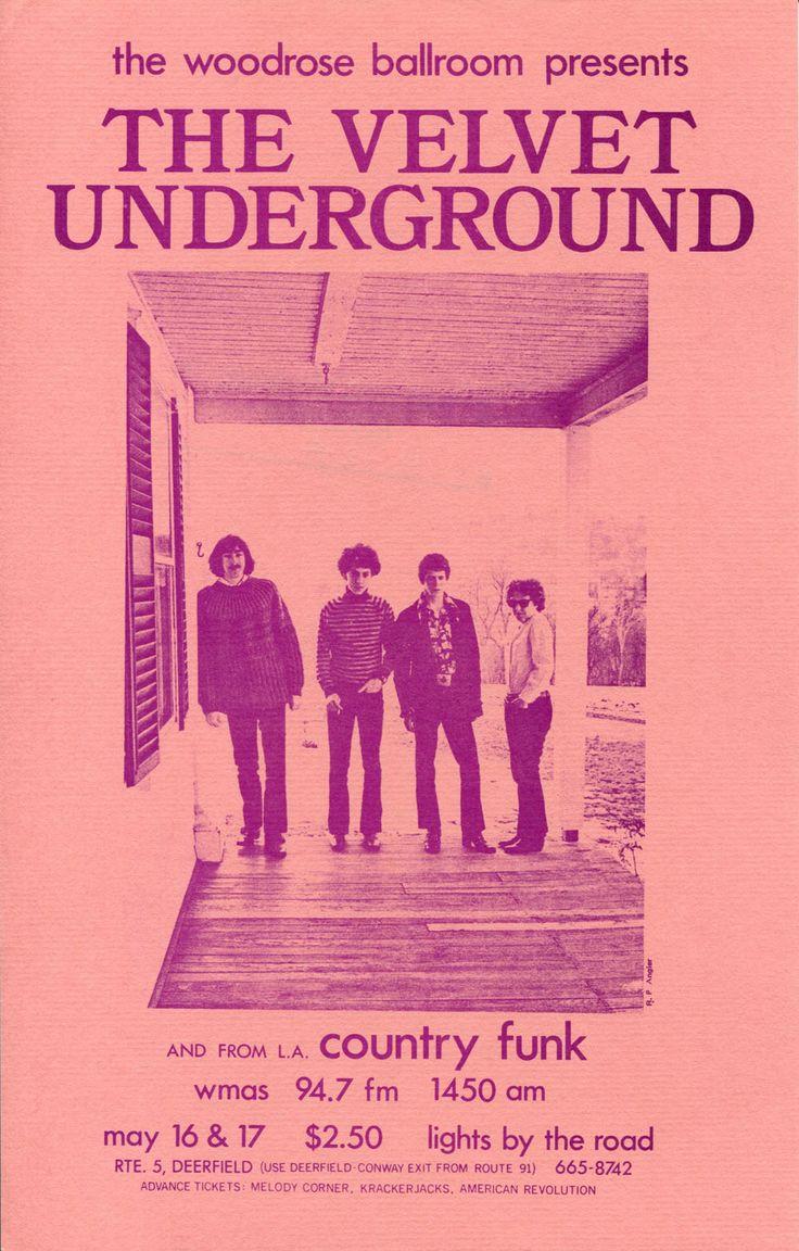 Handbill for a 1969 Velvet Underground concert