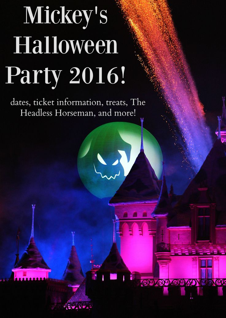 Mickey's Halloween Party Dates and ticket information for Disneyland Resort. Pricing, treats, The headless horseman,and more for 2016!