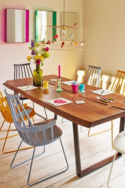 Bright Colours - Dining Room Ideas – Decorating, Design & Wallpaper (houseandgarden.co.uk)