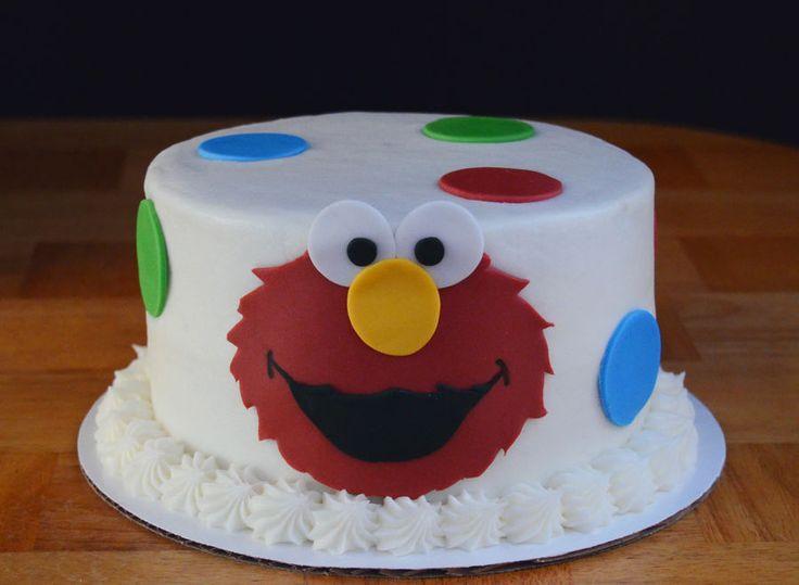 Elmo smash cake.
