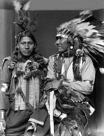 Sioux men Holy Frog and Big Turnips were part of the Buffalo Bill's Wild West show