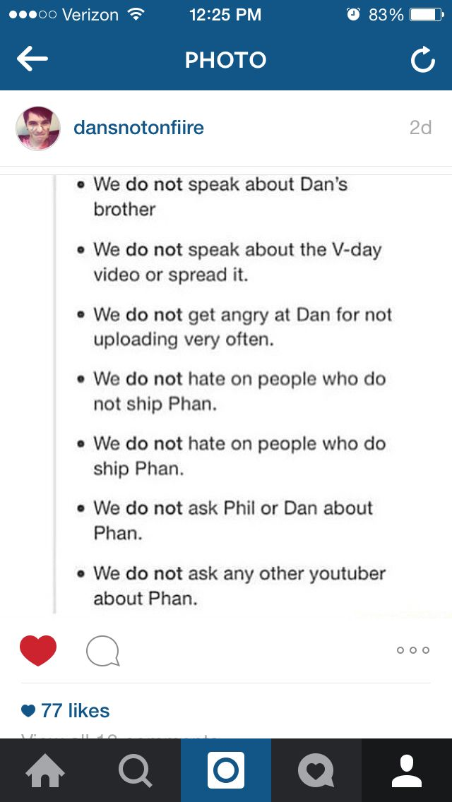 First rule of the phandom- you don't ask about their personal life in any way.