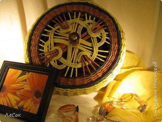 Поделка изделие Плетение Ажурные крышки Продолжение Трубочки бумажные фото 4