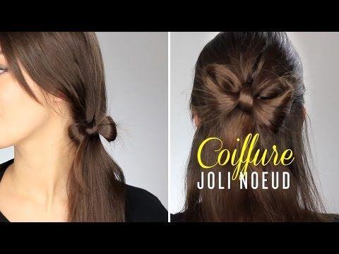 Tuto Coiffure Joli Noeud YouTube chignon et coiffure