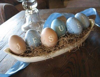 Easter Jesus eggs