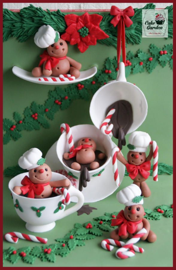Sweet Christmas Collaboration Gingerbread Cookie men by Cake Garden Houten / lalique1