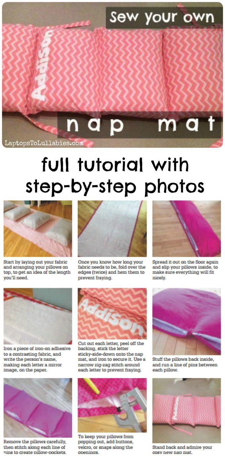 How to #sew your own nap mat // Full tutorial                                                                                                                                                     More
