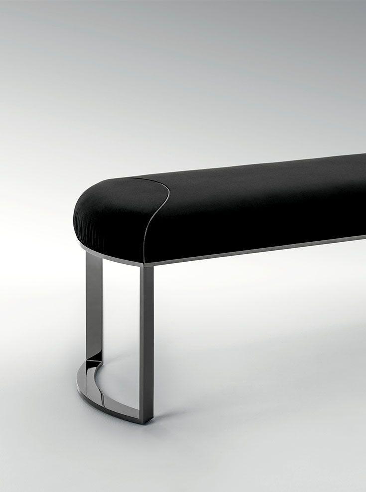 Asja bench detail for Fendi Casa www.luxurylivinggroup.com #Fendi #LuxuryLivingGroup