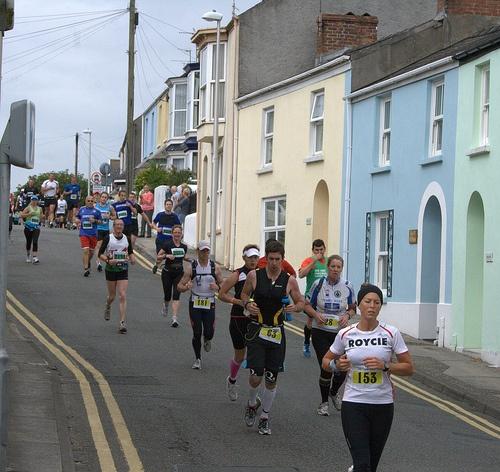 Tenby Marathon in Trafalgar Road