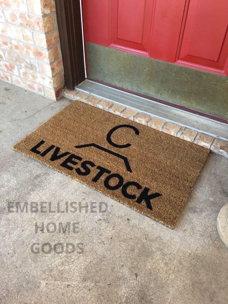 homely idea personalized door knocker. Custom cattle brand doormats available in my Etsy shop  https www 464 best Your feet please images on Pinterest Door rugs