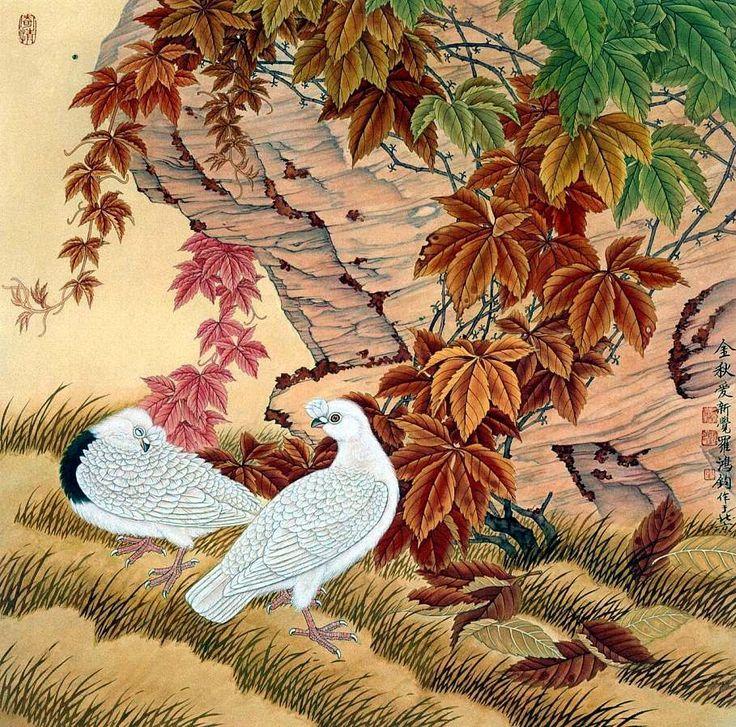 Jin Hongjun, 1937 ~ Traditional Chinese painter   Tutt'Art@   Pittura * Scultura * Poesia * Musica  
