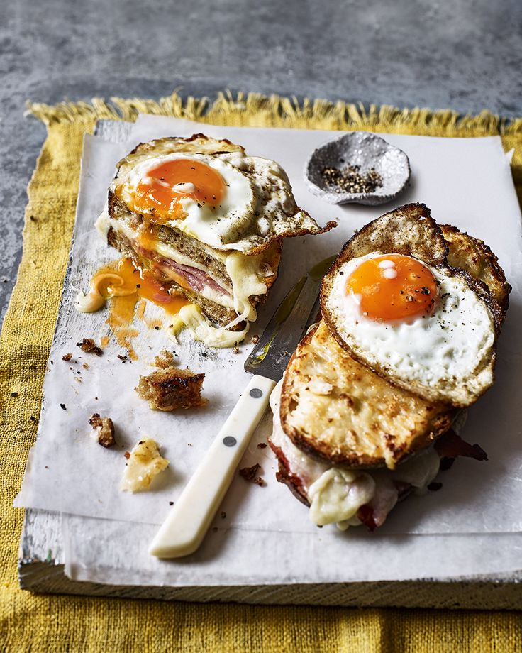Does life really get any better than a lazy Sunday breakfast of thick sliced ham sandwiched between cheesy bread and topped with a crispy fried egg? We think not.